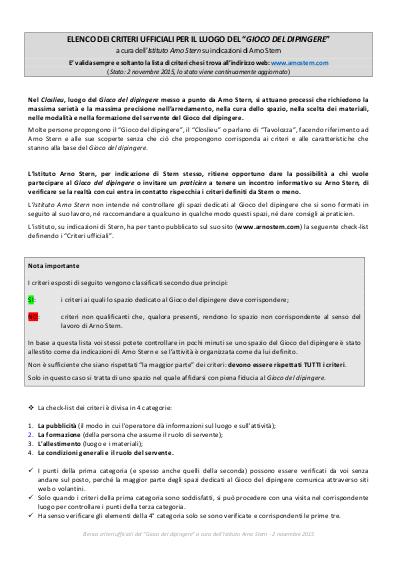 Criteri Ufficiali Closlieu Institut Arno Stern