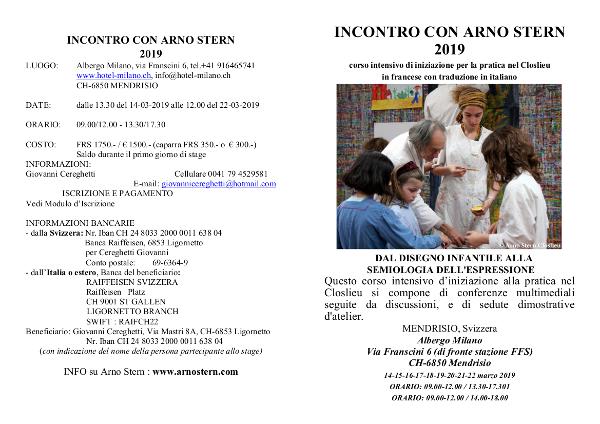 INCONTRO CON ARNO STERN